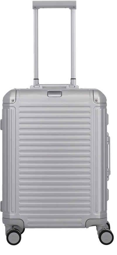 travelite Hartschalen-Trolley »Aluminiumkoffer Next, 55 cm«, 4 Rollen