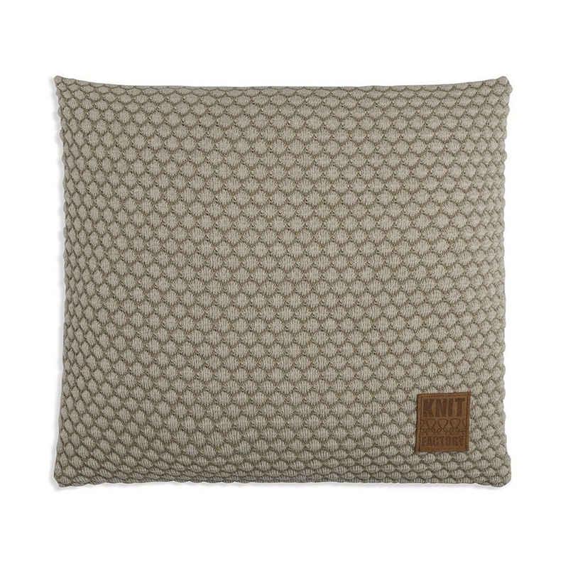 Knit Factory Dekokissen »Knit Factory Juul Kissen Seda/Olive - 50x50«