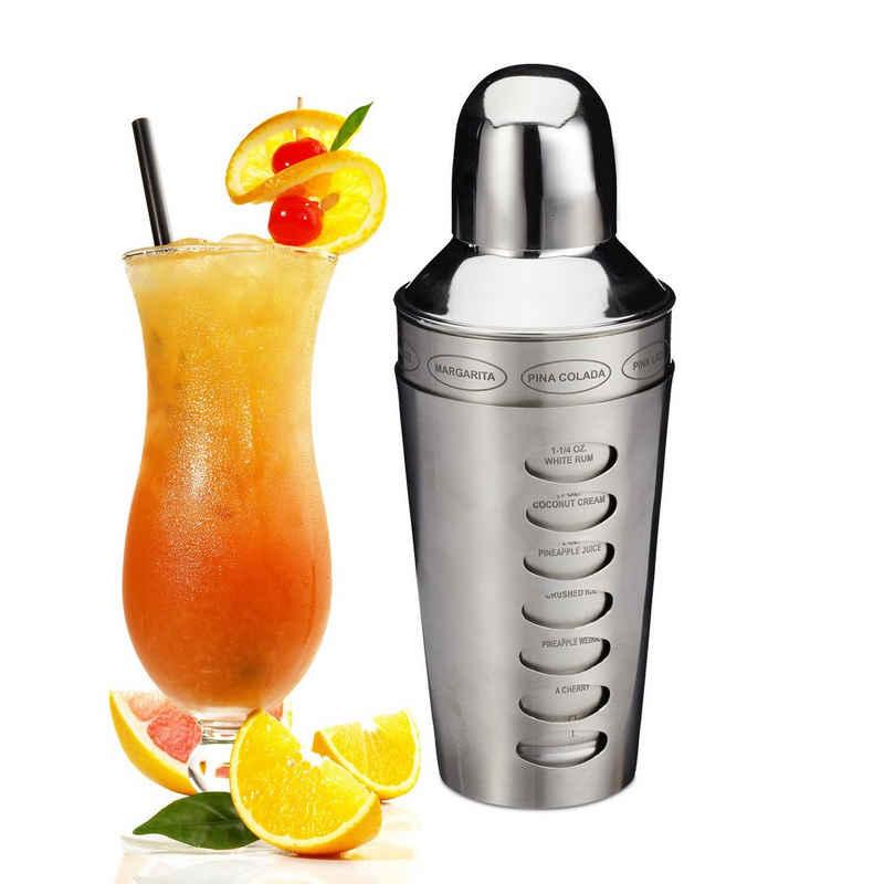 relaxdays Cocktail Shaker »Cocktailshaker Edelstahl«, Edelstahl