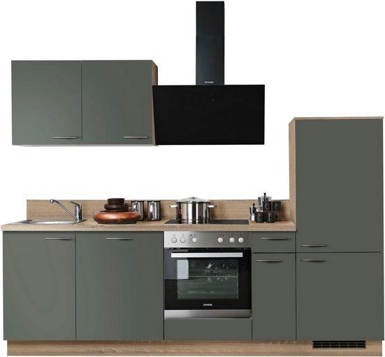 Express Küchen Küchenzeile »Scafa«, ohne E-Geräte, vormontiert, mit Vollauszug und Soft-Close-Funktion, Breite 260 cm
