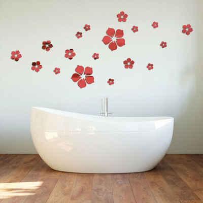 Masbekte Wandtattoo (Set), Selbstklebend, Blume, für Schlafzimmer Wohnzimmer Badezimmer Dekor