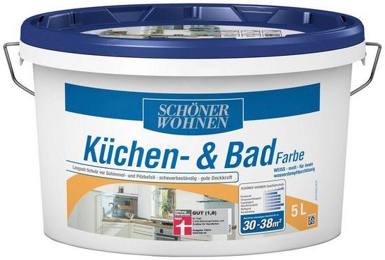 SCHÖNER WOHNEN FARBE Feuchtraumfarbe »Küche/Badfarbe, weiss«, 5 l