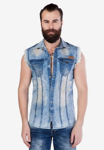 Cipo & Baxx Jeansweste mit Fronttaschen