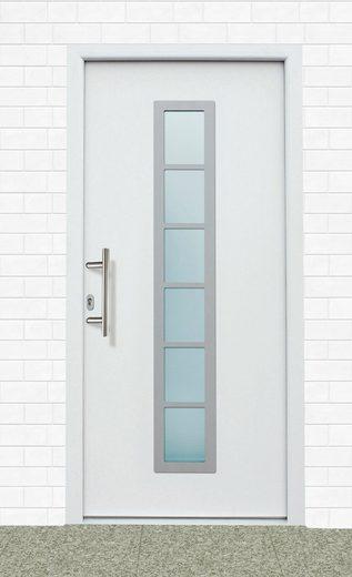 KM MEETH ZAUN GMBH Aluminium-Haustür »A04«, BxH: 98x208 cm, weiß, in 2 Varianten