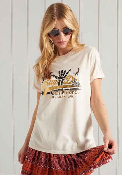 Superdry T-Shirt »VL ITAGO TEE« mit großem Markenschriftzug