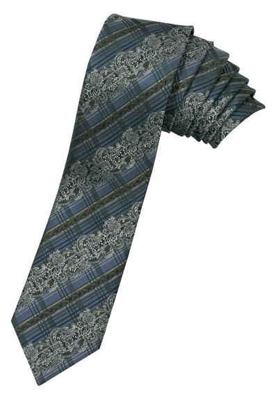Moschen-Bayern Krawatte »Trachtenkrawatte Herren Krawatte Seidenkrawatte Herrenkrawatte 100% Seide Blau-Grün« edler Wiener Seiden-Jacquard