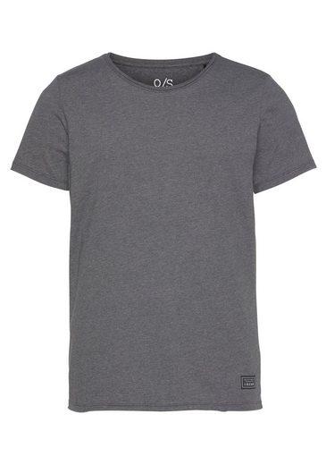 Q/S designed by T-Shirt mit doppelter Rollkante am Ausschnitt