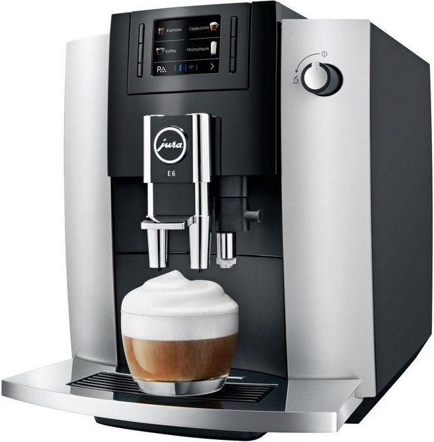 JURA Kaffeevollautomat E6 Platin, silberfarben