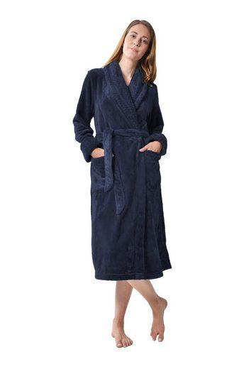 Bademantel »Homewear / Morgenmantel /Saunamantel / Hausmantel für Damen«, RAIKOU, aus luxuriösem Flausch Coral Fleece