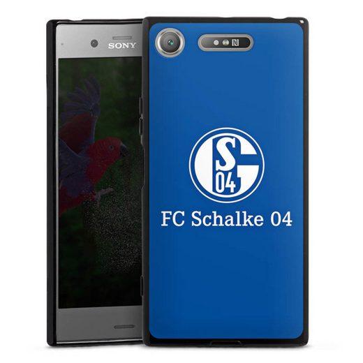 DeinDesign Handyhülle »FC Schalke 04 Blau« Sony Xperia XZ 1, Hülle FC Schalke 04 Offizielles Lizenzprodukt S04
