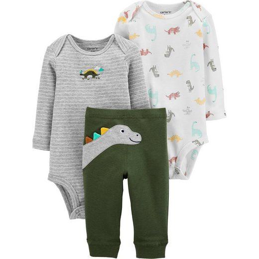 Carter`s Baby Set Langarmbody, Doppelpack + Stoffhose für Jungen