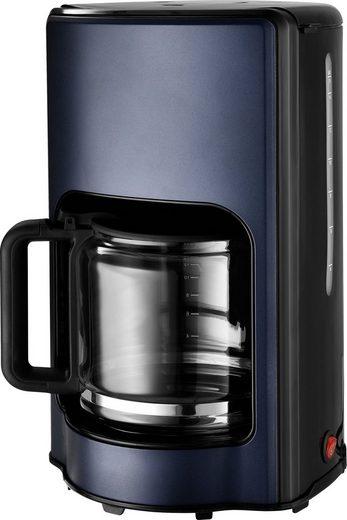 Team Kalorik Filterkaffeemaschine TKG CM 1220 BU, 1,5l Kaffeekanne, Papierfilter, hochwertiger Kaffeeautomat mit Glaskanne