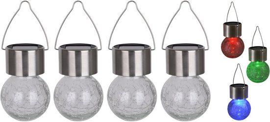 näve LED Gartenleuchte »CRACKLE BALL«, Set, 4 Stück