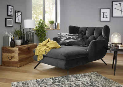 KAWOLA Loungesessel »CHARME«, Longchair Stoff Velvet versch. Farben