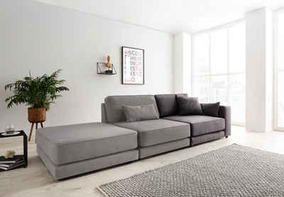 OTTO products Sofaelement »Grenette«, als Teil des Modulsofas, im Baumwoll-/Leinenmix oder umweltschoned aus 70% recyceltem Polyester, Federkern