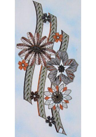 Stickereien Plauen Fensterbild »große Blüten«