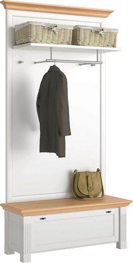 WEHRSDORFER Garderobe »Maisonette«, mit Sitzbank und Klappe, Breite 225 cm