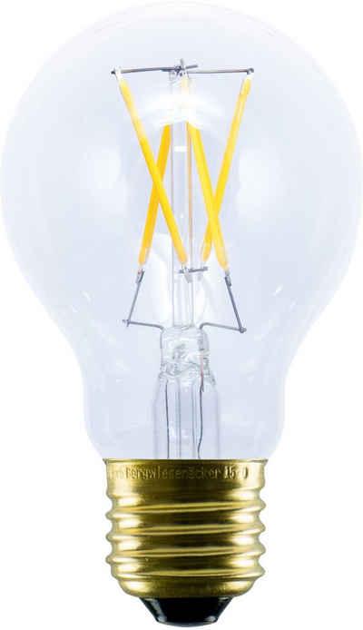 SEGULA »LED Bulb Plastic clear« LED-Leuchtmittel, E27, 1 Stück, Extra-Warmweiß, Dimmbar, Bruchfest, Außenbereich, Warmlicht