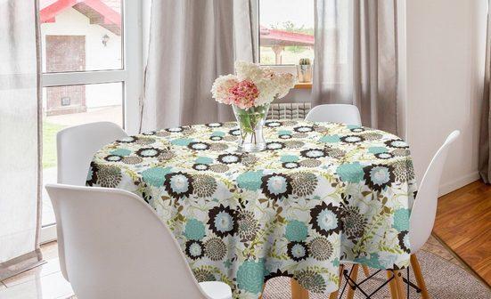 Abakuhaus Tischdecke »Kreis Tischdecke Abdeckung für Esszimmer Küche Dekoration«, Jahrgang Abstrakt Aufwändige Blumen