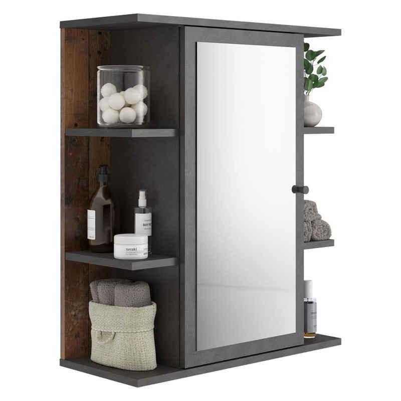 FMD Badezimmerspiegelschrank »FMD Badezimmer-Spiegelschrank Matera Dunkelgrau«
