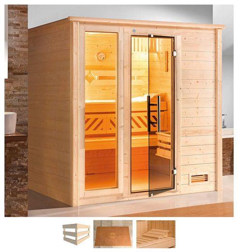 weka Sauna »Bergen«, BxTxH: 198 x 181 x 204 cm, 45 mm, ohne Ofen