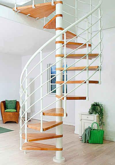 Dolle Spindeltreppe »Oslo«, für Geschosshöhen bis 276 cm, Stufen offen, Ø: 140 cm