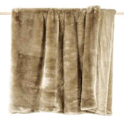 Wohndecke »Pad Decke SHERIDAN Felldecke Taupe«, PAD