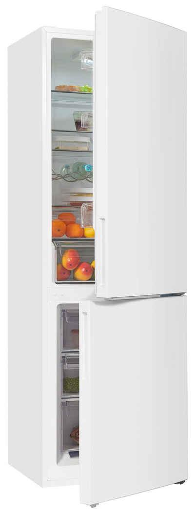 exquisit Kühl-/Gefrierkombination KGC320-90-040D, 186 cm hoch, 60 cm breit, Inverter Kompressor, effizient durch Energieklasse D
