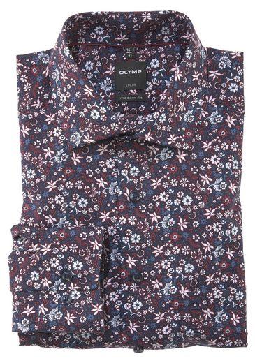 OLYMP Businesshemd »Luxor modern fit« florales Printmuster, bügelfrei