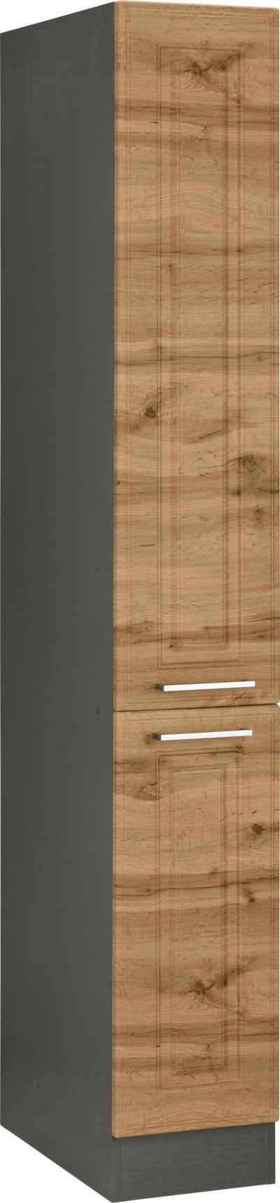 HELD MÖBEL Apothekerschrank »Stockholm, Breite 30 cm« hochwertige MDF-Fronten, 200 cm hoch, viel Stauraum