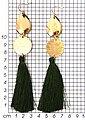J.Jayz Paar Ohrhaken »vergoldet und mit grüne Quasten«, Bild 2