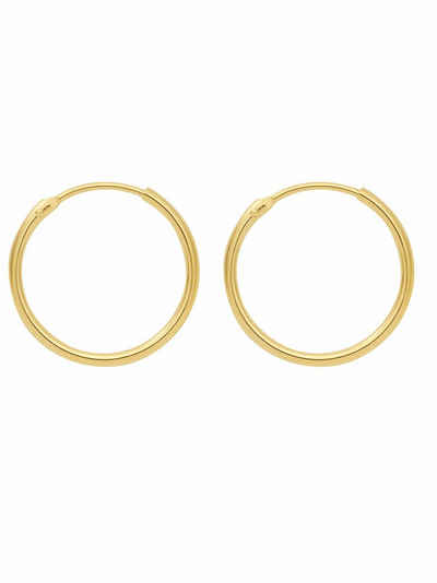 Adelia´s Paar Creolen »585 Gold Ohrringe / Creolen Ø 9 mm«, Goldschmuck für Damen
