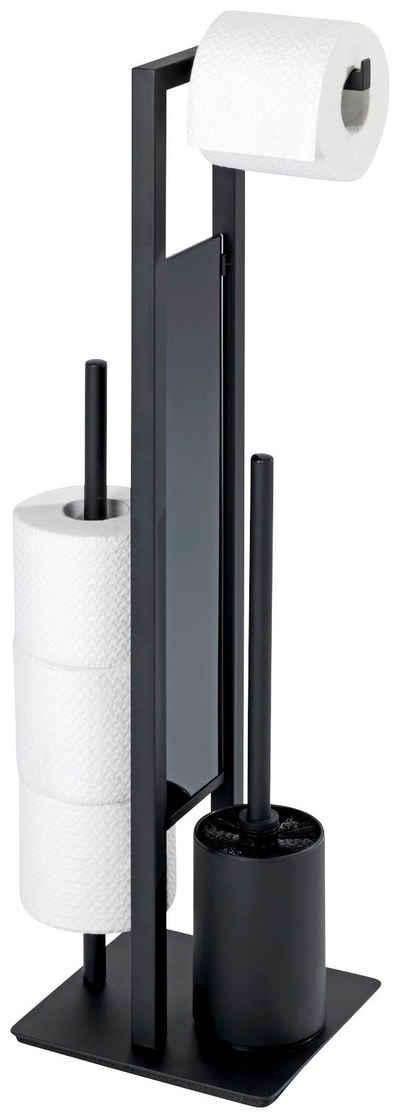 WC-Garnitur »Rivalta«, WENKO, (1-tlg), integrierter Toilettenpapierhalter und WC-Bürstenhalter
