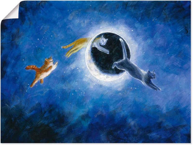 Artland Wandbild »In der Nacht sind alle Katzen grau«, Haustiere (1 Stück), in vielen Größen & Produktarten -Leinwandbild, Poster, Wandaufkleber / Wandtattoo auch für Badezimmer geeignet