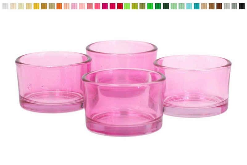 Creativery Teelichthalter, Teelichtgläser klein 51x33 mm, Set 4 Stück