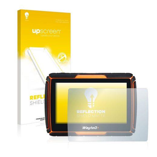 upscreen Schutzfolie »für WayteQ xRider GPS«, Folie Schutzfolie matt entspiegelt