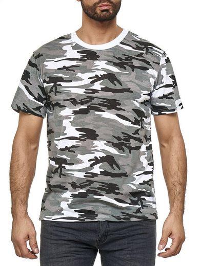 Max Men T-Shirt »3071« Herren Tarnmuster Army T-Shirt