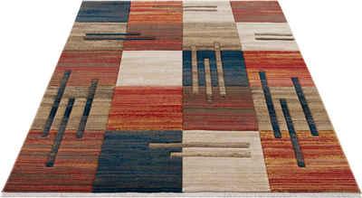 Teppich »Beliz«, my home, rechteckig, Höhe 9 mm, mit Konturenschnitt, Wohnzimmer