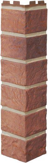 BAUKULIT Verblender »Solid Brick Bristol Außenecke«, Klinkerstruktur, 4er-Set