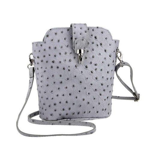 ITALYSHOP24 Schultertasche »Made in Italy Damen Leder Tasche CrossBody«, als Schultertasche, CrossOver, Umhängetasche tragbar