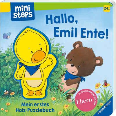 Ravensburger Bilderbuch »ministeps®, Hallo, Emil Ente! Mein erstes Holzpuzzle-Buch«, FSC® - schützt Wald - weltweit