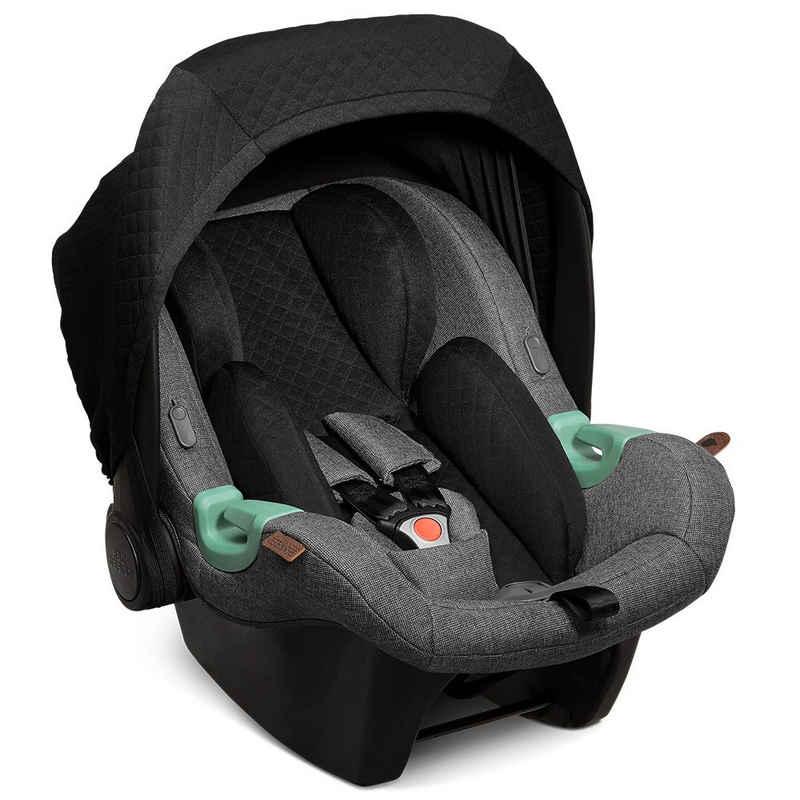 ABC Design Babyschale »Tulip - Diamond Edition - Asphalt«, 3.95 kg, (2-tlg), Gruppe 0+ Baby Autositz - ab Geburt bis 13 kg inkl. Zusatzverdeck
