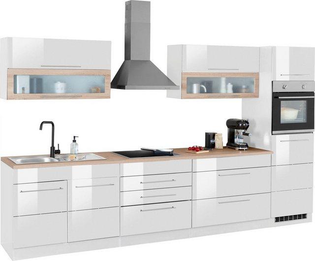 Einbauküchen - HELD MÖBEL Küchenzeile »Wien«, mit E Geräten, Breite 340 cm  - Onlineshop OTTO