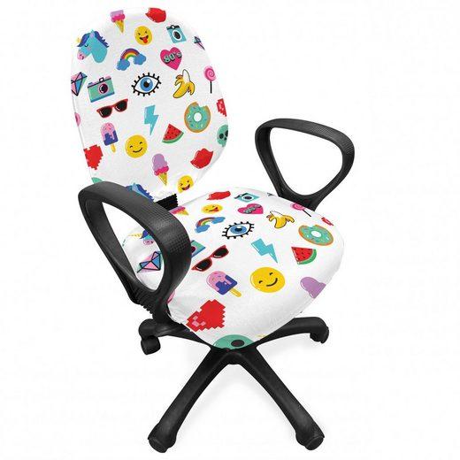 Bürostuhlhusse »dekorative Schutzhülle aus Stretchgewebe«, Abakuhaus, emoji Pop-Art-Stil Wassermelone