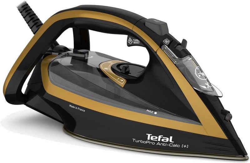 Tefal Dampfbügeleisen Turbo Pro Anti-Calc+ FV5696, 3000 W, 3000W, Anti-Kalk-Kollektor, Vertikaldampf, Hervorrgende Bügelsohle, Eco-Funktion