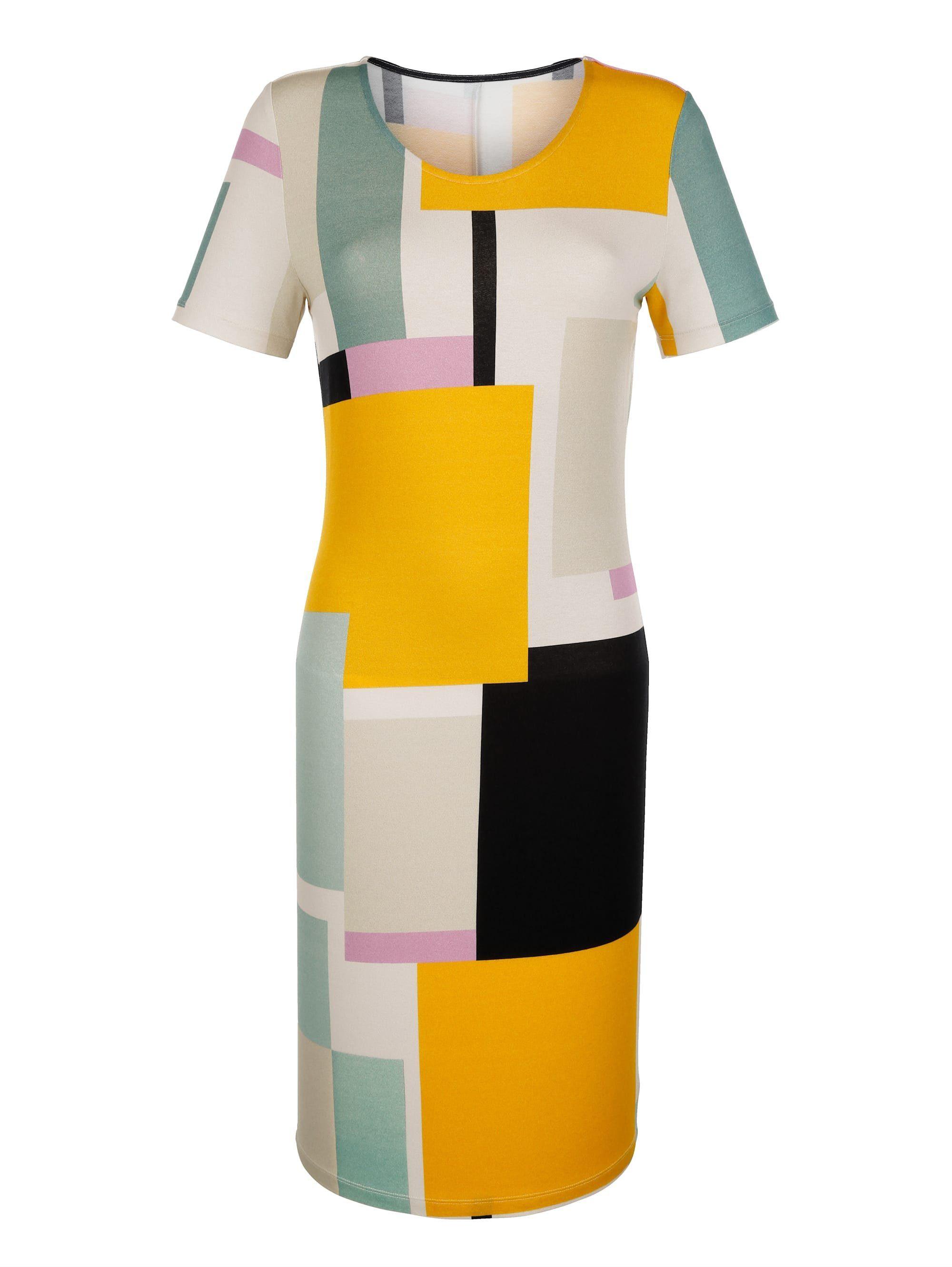 Amy Vermont Jerseykleid mit grafischem Muster