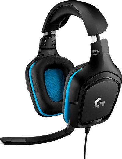 Logitech G »G432 - LEATHERETTE - EMEA« Gaming-Headset