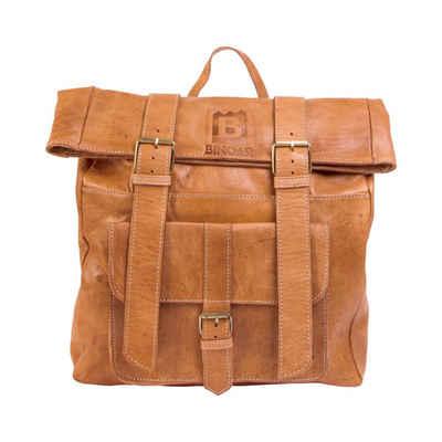 BINOAR Cityrucksack »Lederrucksack Hakim«, Leder rucksack damen herren unisex Lederrucksack aus Leder echtleder vintage Rucksack