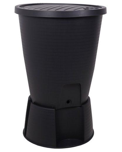 ONDIS24 Wassertank »Ondis24 Regentonne schwarz 220 L mit Deckel, Ständer, Hahn und Füllautomat«