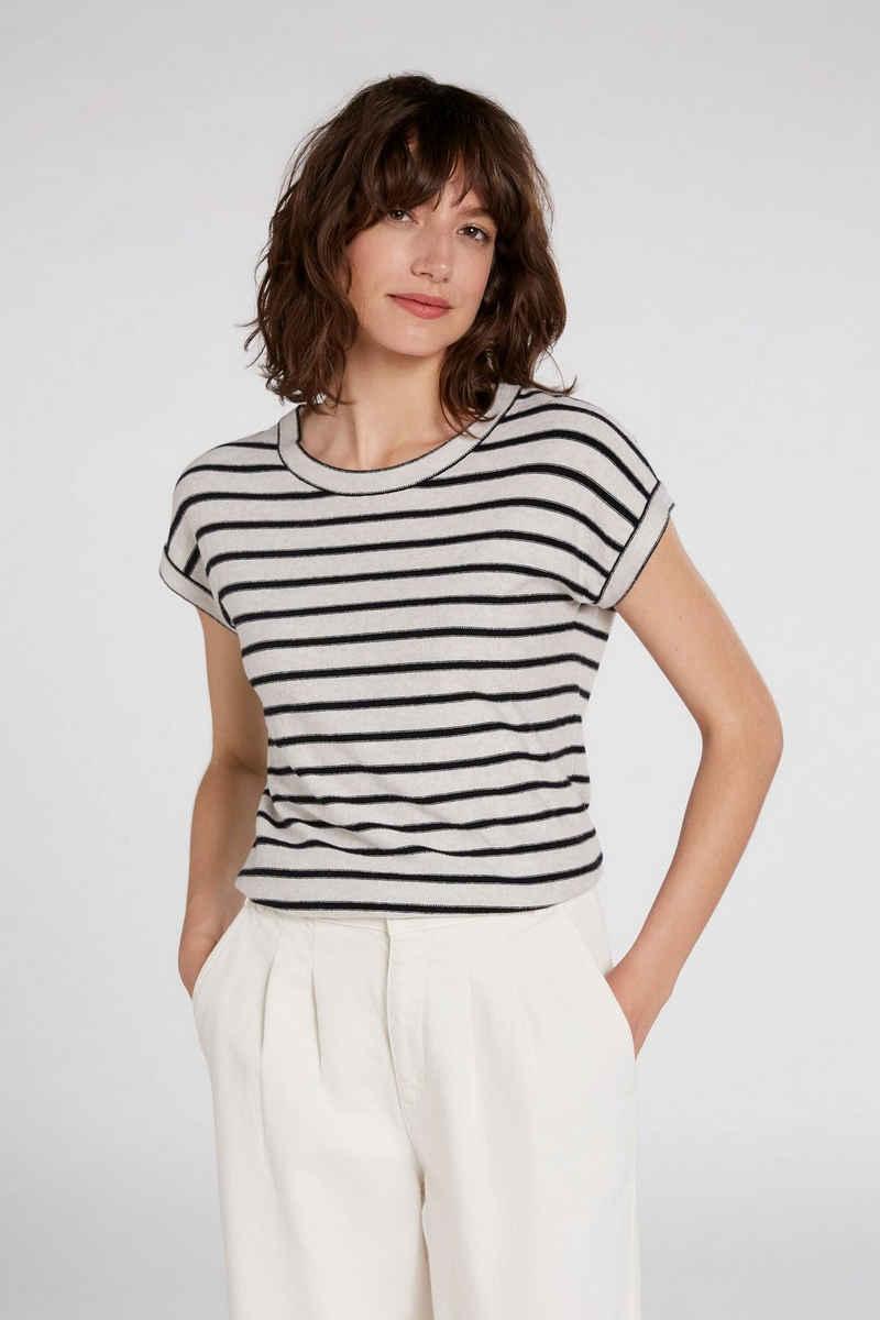 Oui T-Shirt »Pullover mit Streifen«